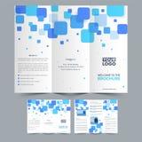 Trifold broschyrdesign för affär Arkivfoton
