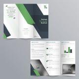 Trifold broschyrdesign för affär Arkivbild