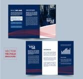 Trifold broschyrvektordesign för ditt företag Royaltyfri Bild