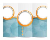 Trifold broszurka szablon Obrazy Stock