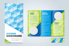 Trifold Business Brochure Design Template Royalty Free Stock Photography