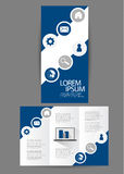 Trifold business brochure Stock Image
