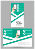 Trifold business brochure Royalty Free Stock Photo