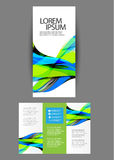Trifold Business brochure Royalty Free Stock Photography