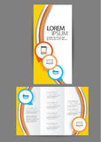 Trifold Business brochure Royalty Free Stock Images