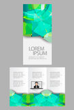 Trifold Business brochure Royalty Free Stock Photos