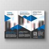 Trifold design för affärsbroschyrmall, vektorillustration royaltyfria foton