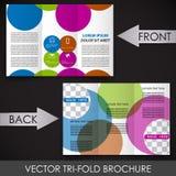 Trifold korporacyjnego biznesu sklepu broszurka ilustracji