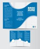 Trifold Korporacyjny broszurka projekta układu szablonu przód i Backe Zdjęcia Stock
