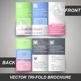 Trifold lagerbroschyr för företags affär, räkningsdesign Arkivfoto