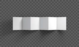 Trifold mockup on transparent background. Vector Illustration. Stock Image