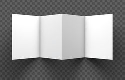 Trifold mockup on transparent background. Vector Illustration. Stock Photos