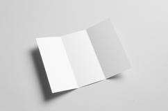 Trifold modell för broschyr A4 Fotografering för Bildbyråer