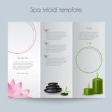 Trifold&Spa Brochure&Mock 免版税库存照片