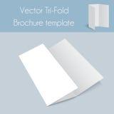 Trifold&Spa Brochure&Mock oben Lizenzfreies Stockfoto