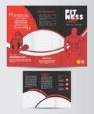 Trifold sprawności fizycznej broszurki projekta układu szablon Zdjęcie Royalty Free