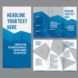 Trifold vektor för broschyrdesignmall Arkivbilder