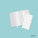 Trifold white template paper. Vector illustration Royalty Free Stock Photos