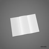 Trifold white template paper. Vector illustration Royalty Free Stock Image