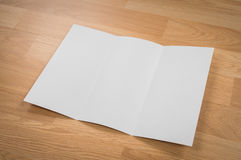 Trifold white template paper Stock Photo
