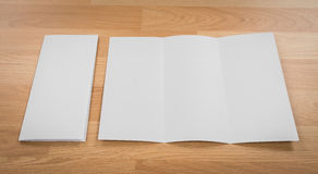 Trifold white template paper Royalty Free Stock Photo