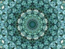 Trifolium meadows circle. Kaleidoscopic picture of trifolium clover, with some flowers Royalty Free Stock Photography