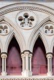 Triforium в северном transept на монастырской церкви Йорка (собор) стоковая фотография rf