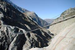 Trift bridge in Alps Stock Image