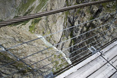 Trift Bridge, Switzerland Royalty Free Stock Photography