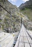 Trift Bridge, Switzerland Stock Photo