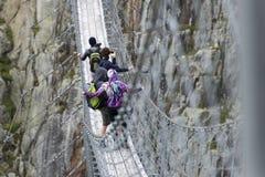 Trift Bridge, Switzerland Stock Photos