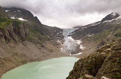 Trift glacier lake Royalty Free Stock Photo