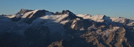 Trift glacier and mount Galenstock Stock Photography
