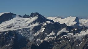 Trift glacier seen from mount Titlis Royalty Free Stock Photography