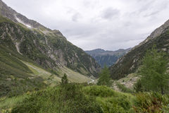 Trift river valley, Switzerland Stock Images