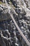 Trift suspension footbridge Stock Photos