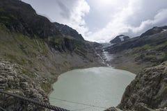 Triftsee lake, Switzerland stock photos