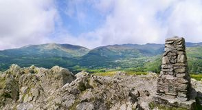 Trig on Loughrigg Fell Stock Images