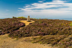 Trig point, Parys Mountain. Royalty Free Stock Images