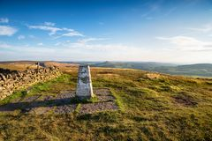 Shining Tor Trig Point Stock Photography