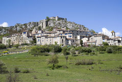 Trigance - Provencal medieval village Stock Photography