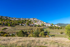 Trigance Village And Castle-Provence,France Stock Photo