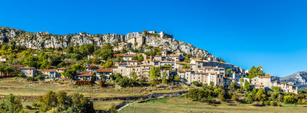Trigance Village And Castle-Provence,France Stock Photos