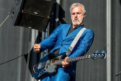 Triggerfinger rock music band perform in concert at Download heavy metal music festival. MADRID - JUN 23: Triggerfinger rock music band perform in concert at Royalty Free Stock Photo