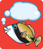 triggerfish положения рифа s Гавайских островов рыб Иллюстрация вектора