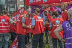 Trigion strajkowicze Przy Amsterdam holandie 2018 Fotografia Royalty Free