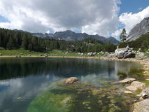 Triglav湖谷(Dolina Triglavskih jezer) 库存照片