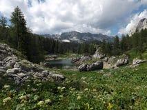 Triglav湖谷(Dolina Triglavskih jezer) 免版税库存照片