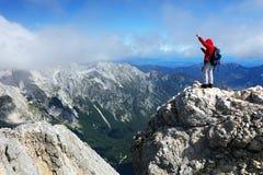 TRIGLAV, στις 12 Αυγούστου 2017 - ορειβάτες στην αιχμή Triglav, Σλοβενία, Ευρώπη Στοκ εικόνα με δικαίωμα ελεύθερης χρήσης