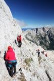 TRIGLAV, στις 12 Αυγούστου 2017 - ορειβάτες στην αιχμή Triglav, Σλοβενία, Ευρώπη Στοκ φωτογραφία με δικαίωμα ελεύθερης χρήσης